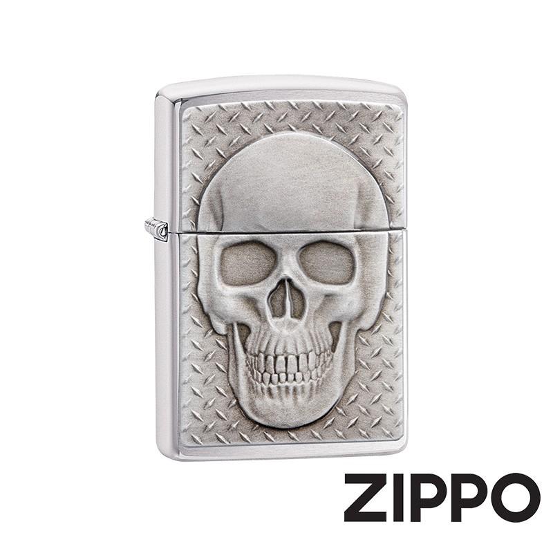 ZIPPO 硬派骷髏防風打火機 美國設計 29818
