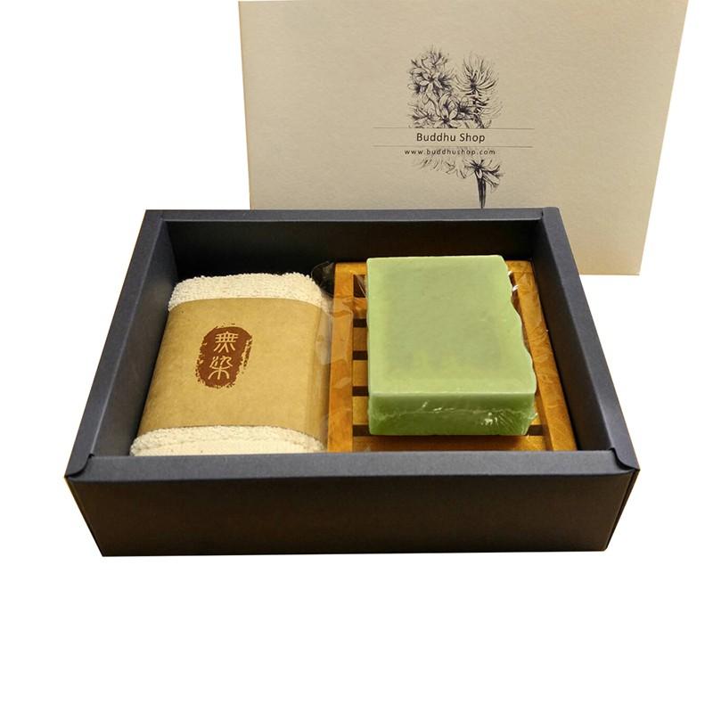 布度工坊 Buddhu Shop 印度 琉璃苣皂 台灣檀木 無染毛巾 皂盤 手工皂 禮盒組