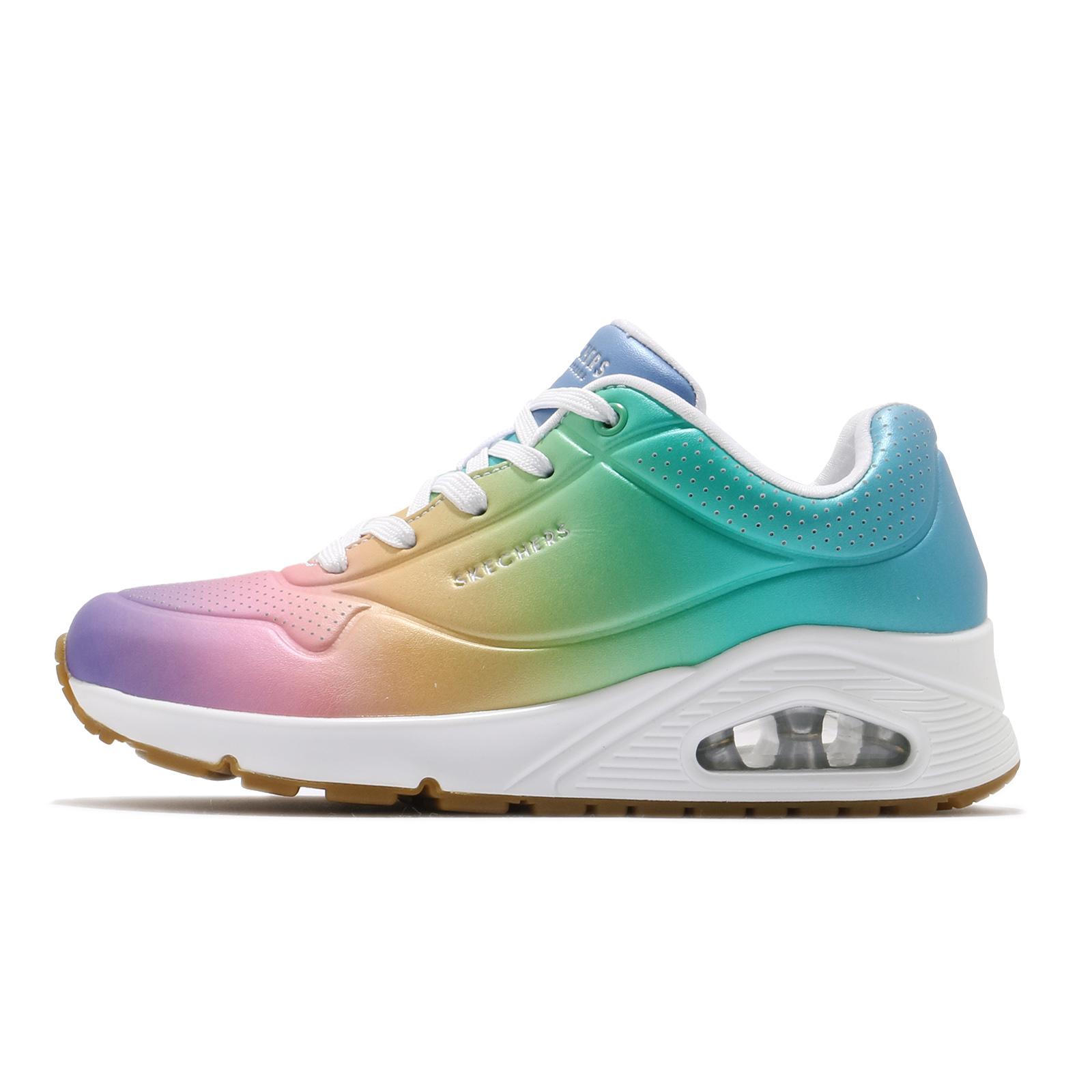 Skechers 休閒鞋 Uno-Spectrum 彩色 漸層 氣墊 彩虹配色 女鞋 【ACS】 155130WMLT