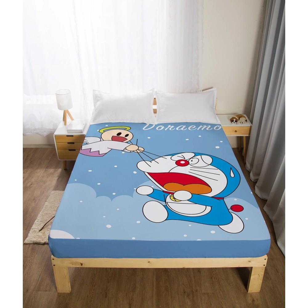 【熱賣】【哆啦A夢床包專場】小叮噹床單 單人/雙人/加大床包 哆啦A夢床包 鬆緊帶床罩 Doraemon 哆啦A枕頭套