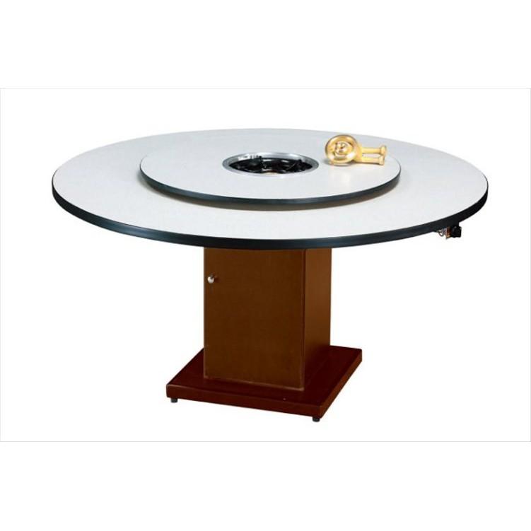 【宏興HOME BRISK】火鍋桌5尺+轉盤3尺(紅/白/胡桃)含腳,台北、桃園、基隆市區免運費《HX新品19》