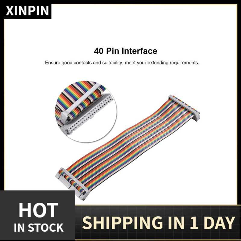 Xinpin 適用於Banana Pi Raspberry的40Pin GPIO帶狀扁平適配器電纜線