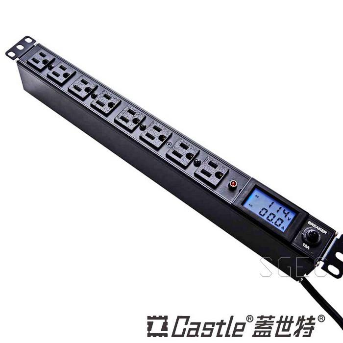 Castle 蓋世特 KF-8B-BLM 20A 機櫃用 插座延長線 鋁合金防突波 線徑3.5mm 電源分配 1.8M