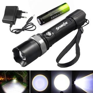 10000流明T6 LED可縮放便攜式手電筒手電筒燈bjfranchiseled