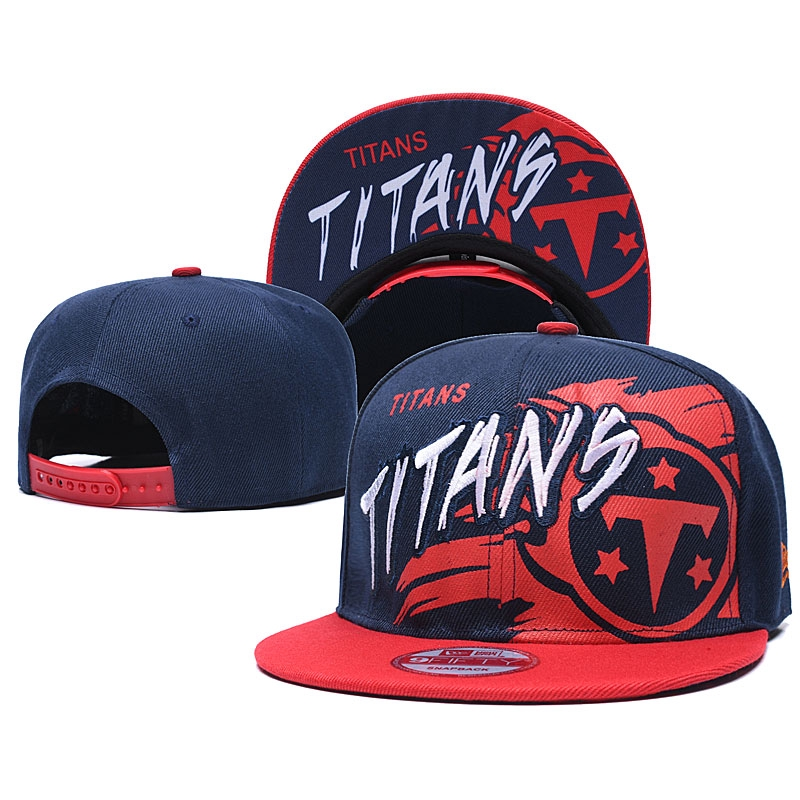 透气 高品質男帽 NFL橄榄球 Tennessee Titans 田納西 泰坦 彈力 合身帽 經典款 中性 嘻哈 棒球帽