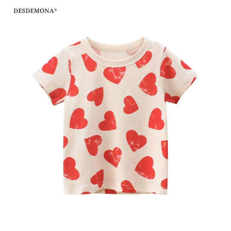 兒童短袖印花t恤廠家大廠出品 寶寶衣服女童 2021夏季童裝純棉短袖上衣 卡通T恤ins