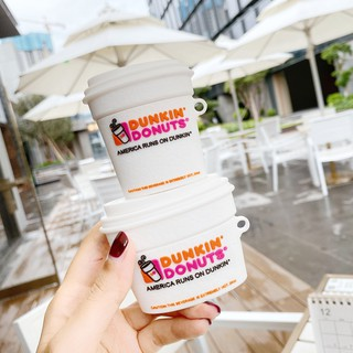 創意AirPods Pro保護殼 Dunkin' Donuts唐恩都樂杯 AirPods 1/ 2 蘋果無線藍牙耳機保護套