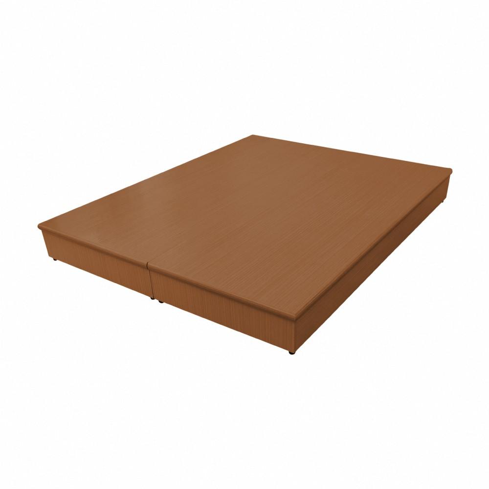 AS-5尺柚木色PU半封三分床底-151x187x20.7cm
