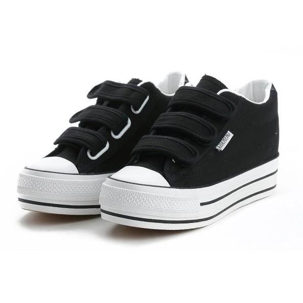 換包姐妹淘~個性風簡約增高帆布鞋