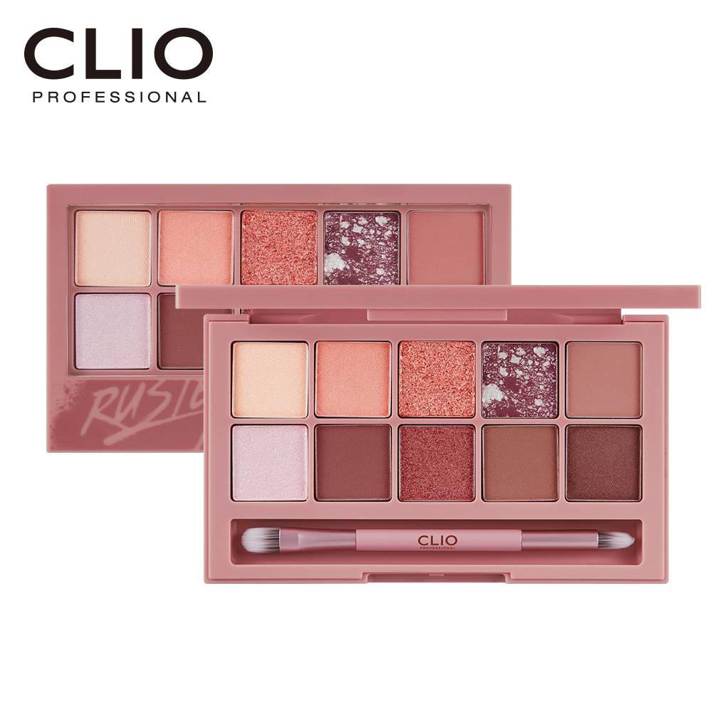 CLIO珂莉奧 璀璨星沙十色眼影盤 05紅酒玫瑰【康是美】