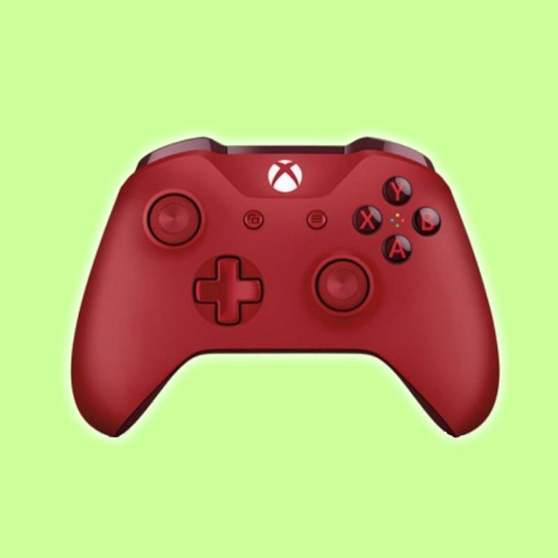 電玩瘋Microsoft Xbox One無線控制器Bluetooth+USB內嵌立體聲耳機插孔 紅