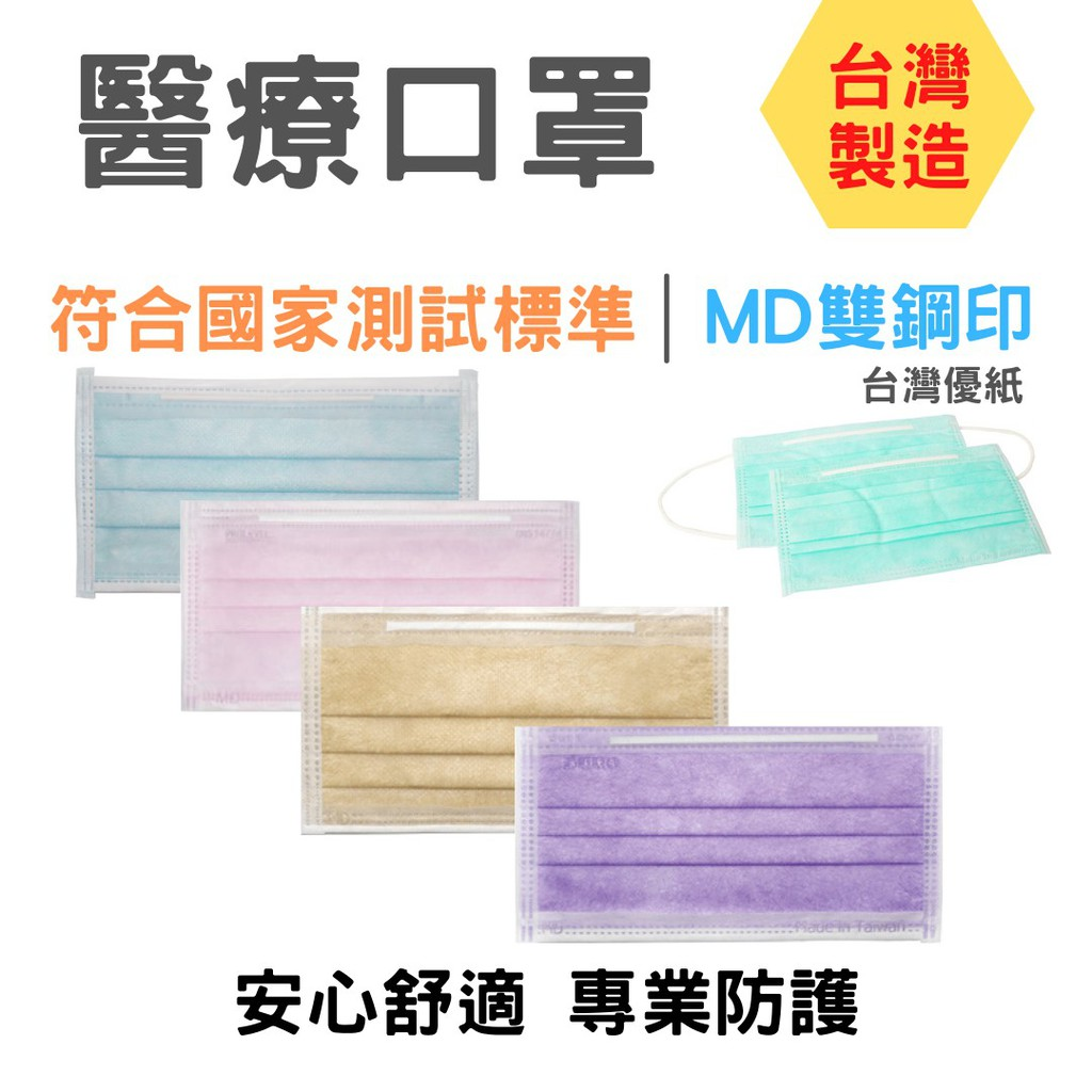 口罩 台灣優紙  醫療級防護口罩(未滅菌) 成人/兒童平面口罩 醫療用口罩  醫用口罩   MIT雙鋼印