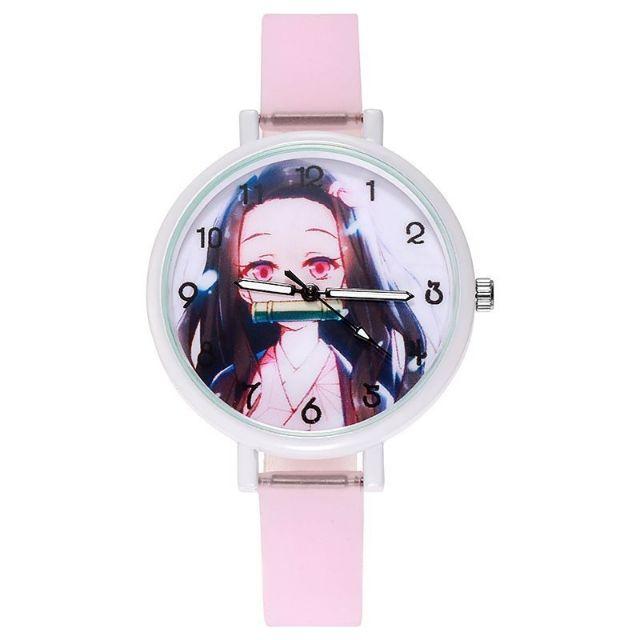 (現貨)鬼滅之刃動漫錶帶夜光手錶卡通學生手錶石英錶
