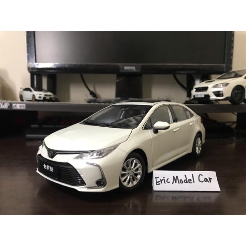 【E.M.C】1:18 1/18 原廠 豐田 Toyota Corolla Altis 12代 金屬模型車 白色