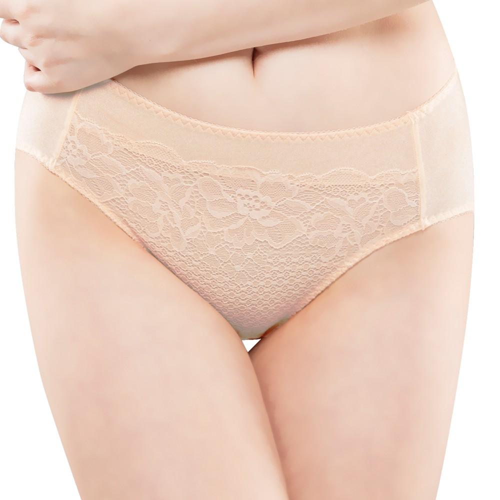 SWEAR 思薇爾 花霓系列M-XXL蕾絲中腰三角內褲(煉乳黃)