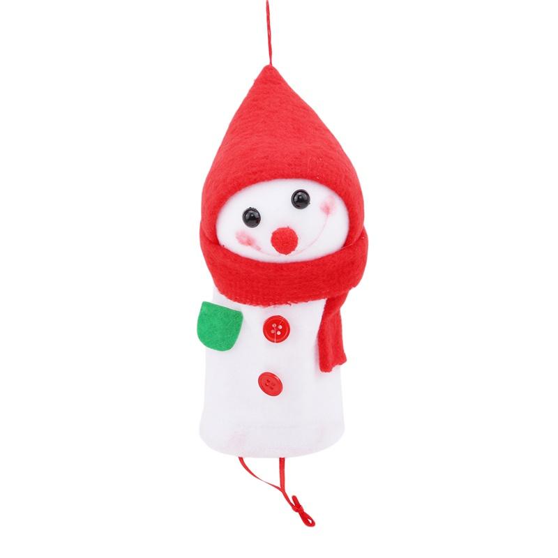 節日產品娃娃殼雪人蘋果袋聖誕前派對聖誕節手提袋