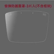 日本直送【SHARP夏普】奈米蛾眼科技防護面罩(FG-F10MR1)更換防護片3入 1組