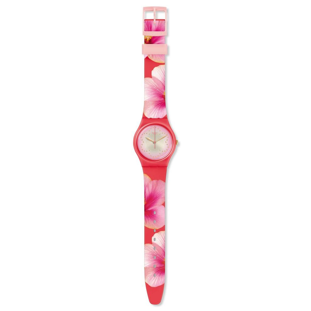 Swatch FIORE DI MAGGIO 腕錶 手錶 桃紅 GZ321