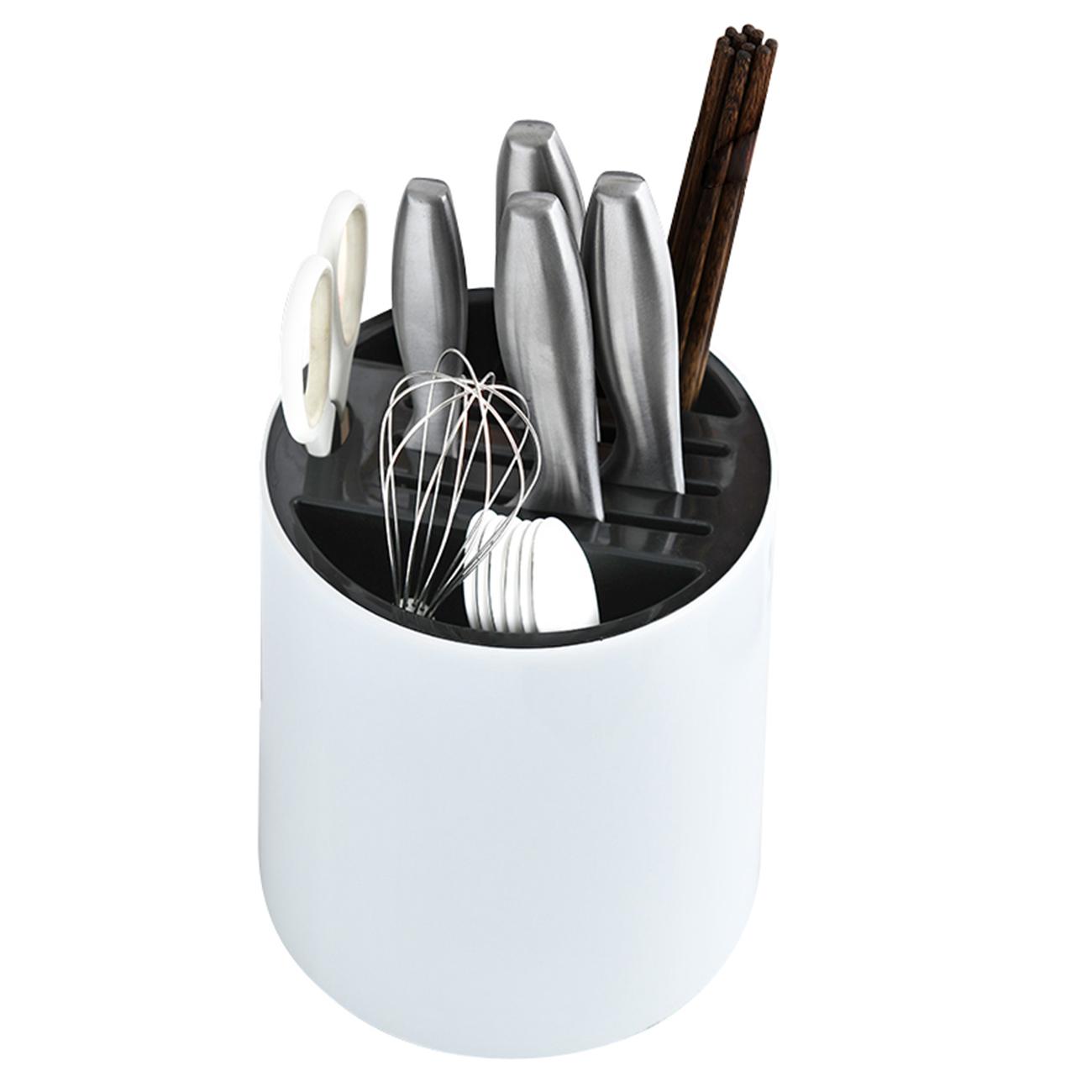 居家家多功能旋轉刀架廚房用品置物架放筷子籠筒一體插刀具收納盒