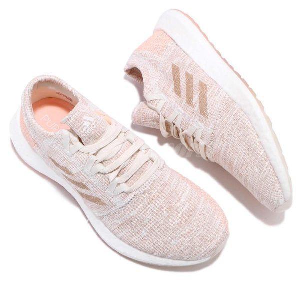全新正品Adidas PureBOOST Go 橘紅 紅色 彩虹 白色 漸層 慢跑 避震 健身 G54519