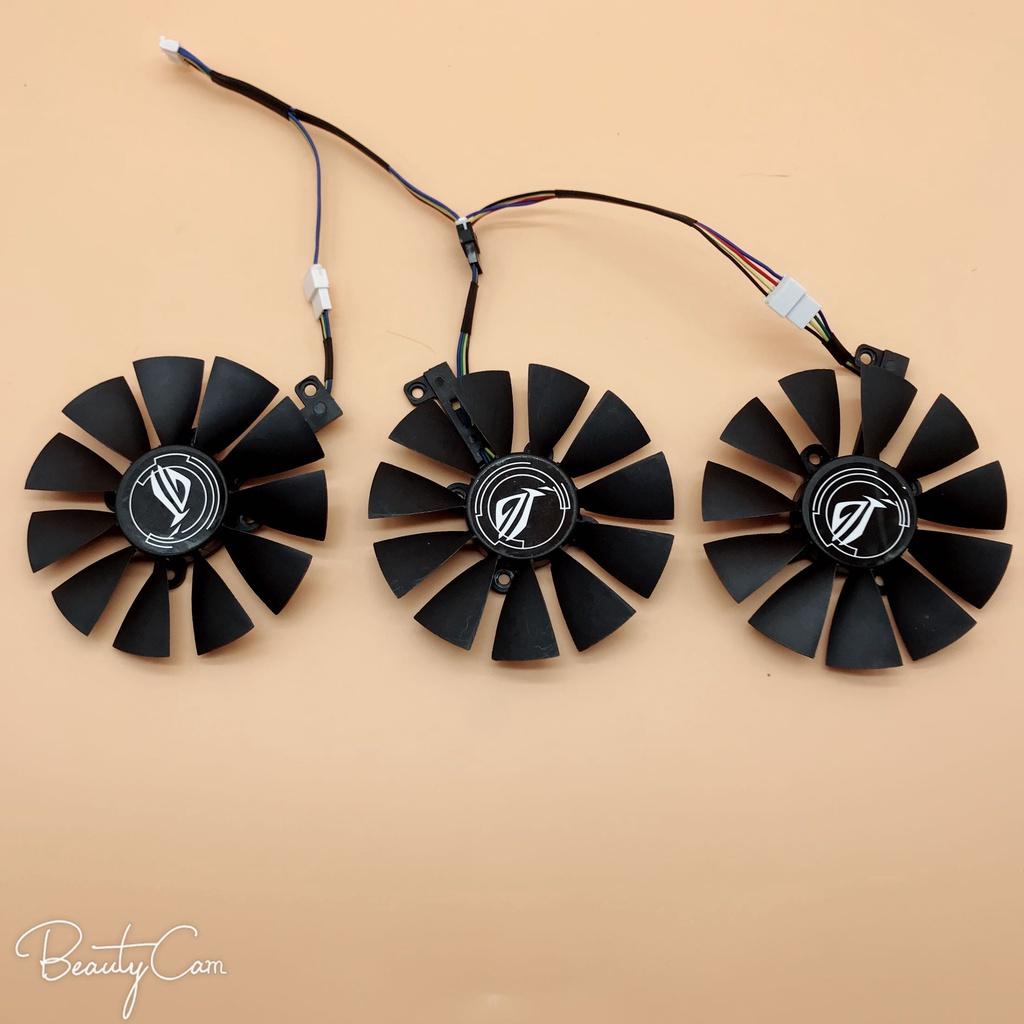 華碩猛禽ROG STRIX GTX1060 1070 1080TI 顯卡風扇三風扇顯卡專用CPU散熱器