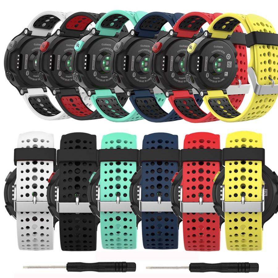 Garmin Forerunner235雙色硅膠錶帶適用佳明220 230 620 630 735x S5 S6 S20