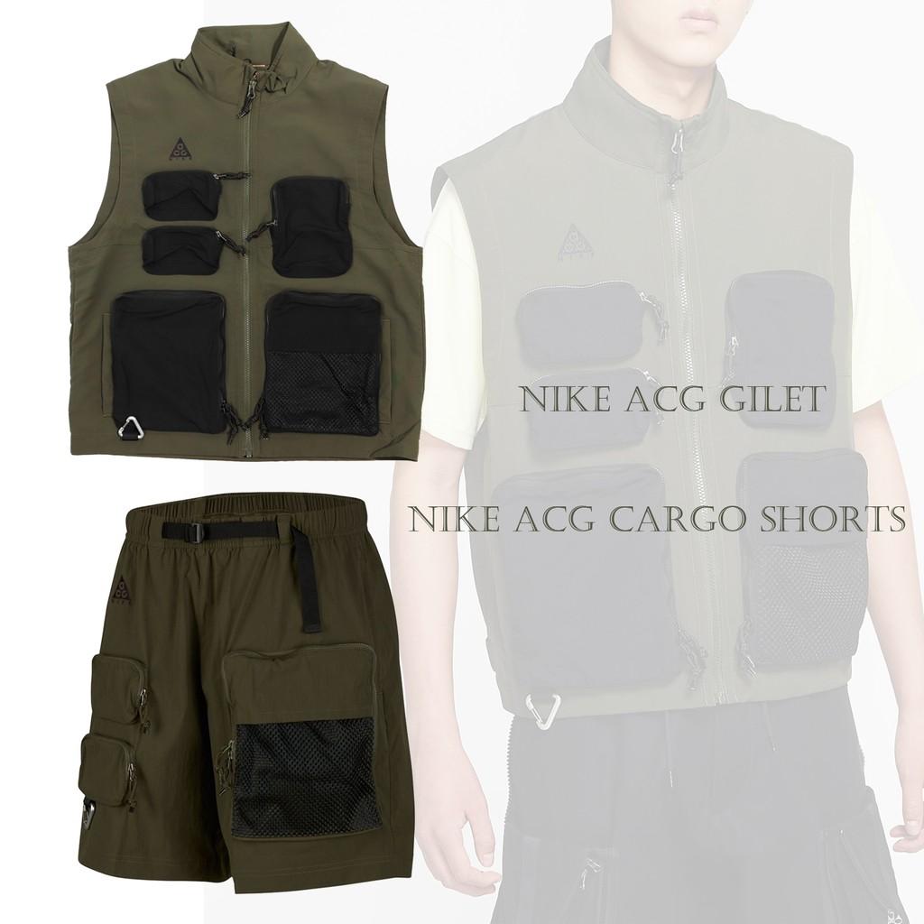 Nike ACG系列 軍綠 黑 男款 工裝風格 多口袋設計 背心/短褲 任選【ACS】