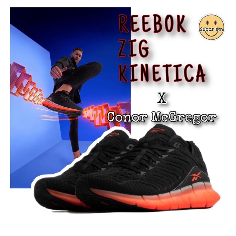 REEBOK ZIG KINETICA 男女 避震 跑步 訓練 科技跑鞋 拳王McGregor 代言 黑紅EH1724