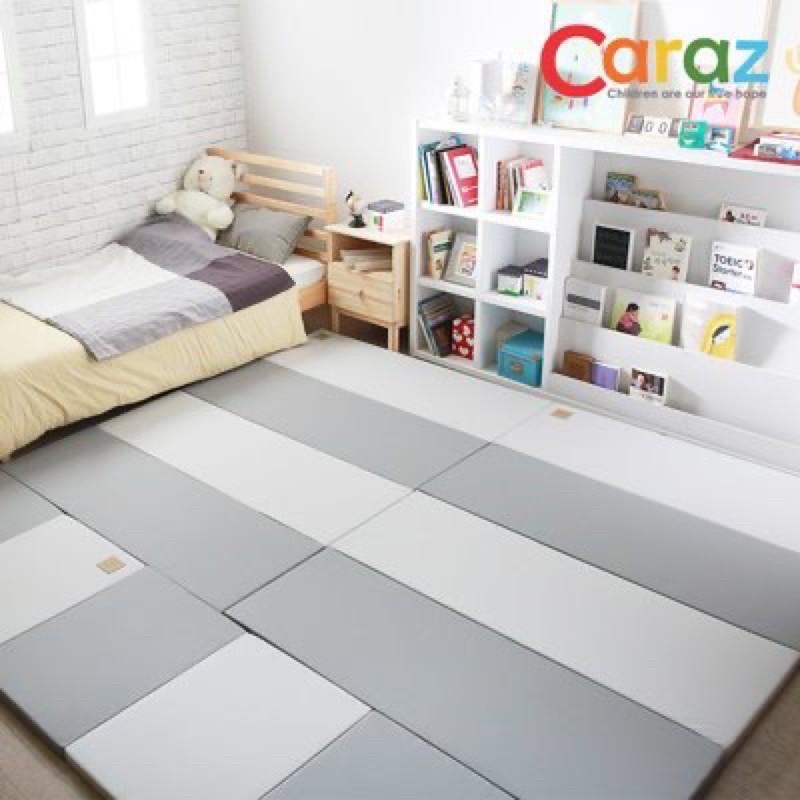 (現貨在台)全新韓國 caraz 地墊 圍欄 灰x白 140*200cm 加寬型