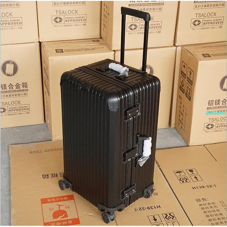 2021新款胖胖旅行箱 個性方頭鋁框旅行箱 行李箱 商務旅行箱 運動款拉桿箱 男女商務旅行箱 方頭