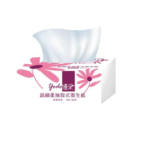 【宅配免運】Yodo優朵超細柔抽取式花紋衛生紙150抽X84包/箱