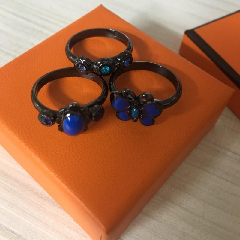 💙Anna Sui間三個一組造型戒指💙