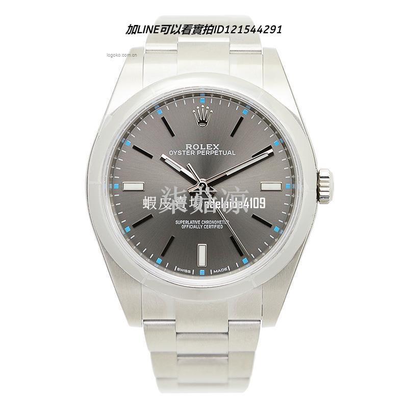 ROLEX 勞力士  銀灰色蠔式自動機械男錶114300 8532742684213