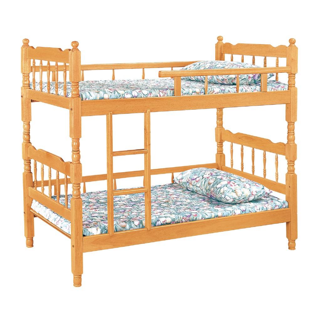 【97cm方柱雙層床-C599-1】床底 床架 高腳床組 抽屜收納 臥房床組 【金滿屋】