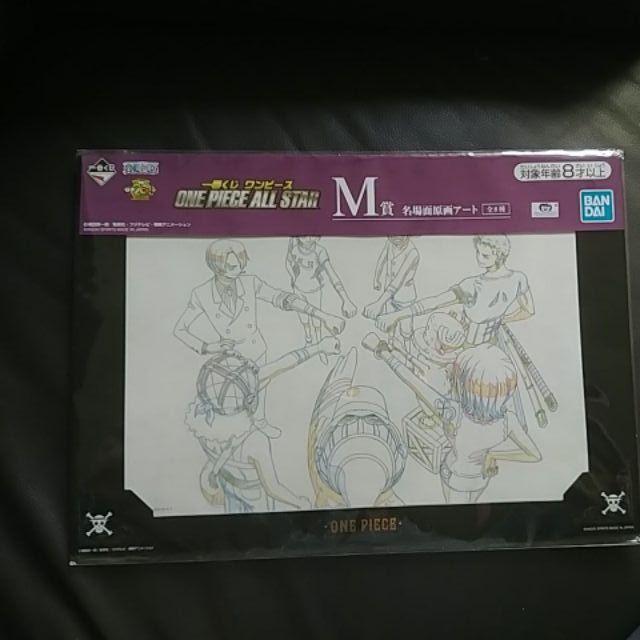 海賊王ONE PIECE All Star劇場版名場面造型原畫 一番賞M賞