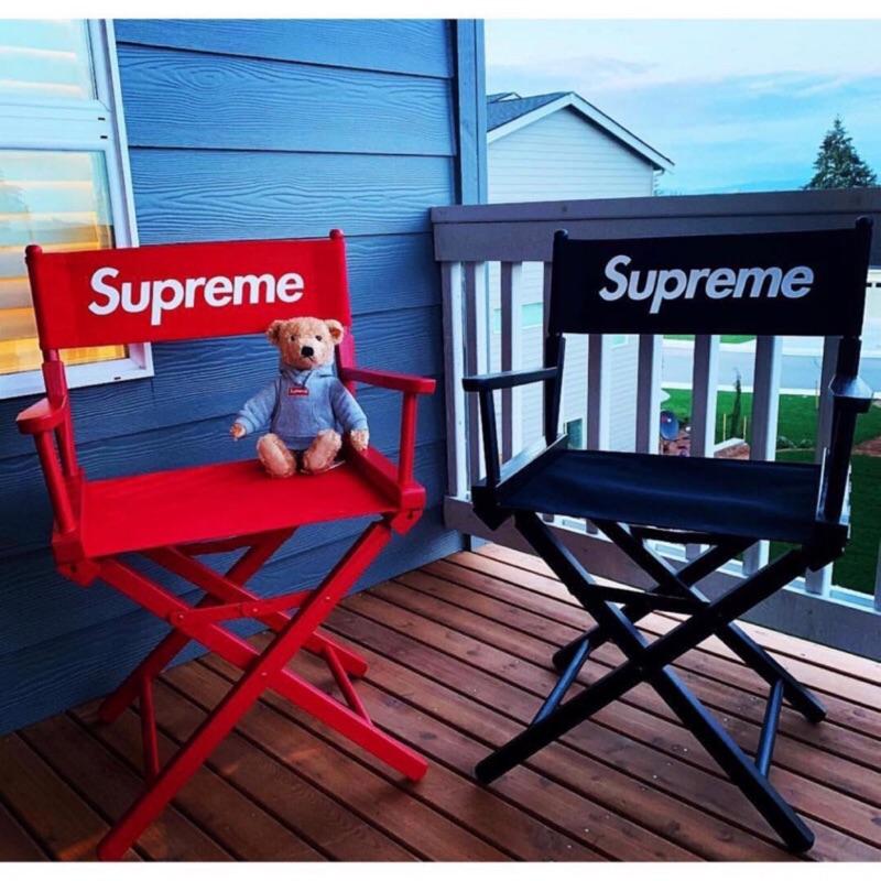 【G-2】Supreme 導演椅 黑 紅 LOGO 板凳 椅子