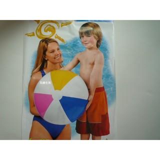 玩樂生活 美國INTEX  59030四色充氣沙灘球 61公分 大人小孩都可以玩 兒童夏天玩水/ 游泳/ 戲水 溫泉可以用