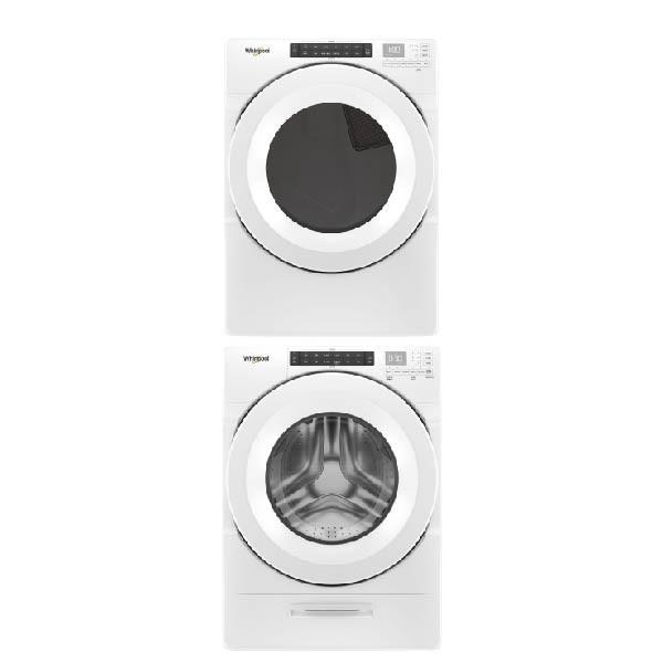 【Whirlpool 惠而浦】滾筒17KG洗衣機+瓦斯型16KG乾衣機 8TWFW5620HW+8TWGD5620HW
