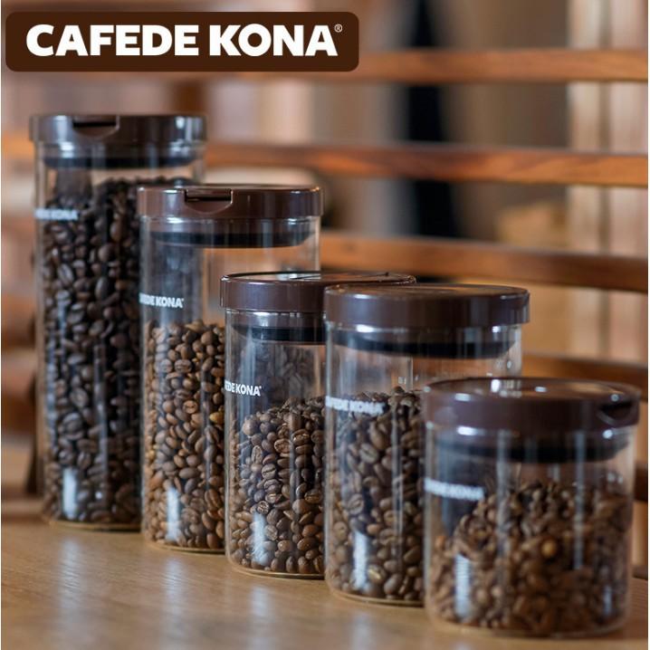 【愛淘淘】CAFEDE KONA咖啡豆密封罐 無鉛廣口玻璃瓶 咖啡粉食品裝茶葉儲物【佳有名品】