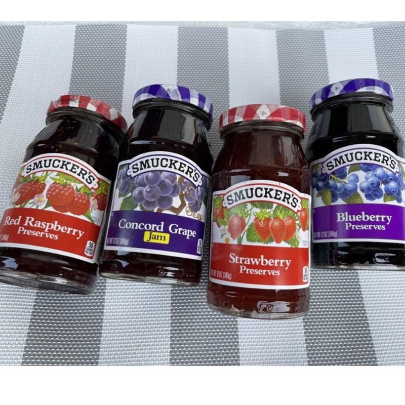 饗食在盛美家果醬 Smucker's 葡萄 覆盆子 藍莓 草莓 Jam 340g