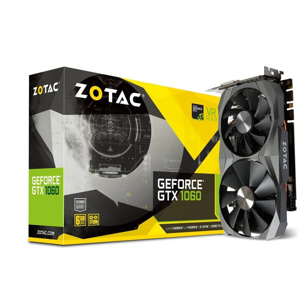 ZOTAC GeForce GTX 1060 6G AMP! Edition 顯示卡