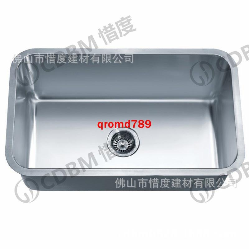 [全新品]304不銹鋼水槽單盆洗菜盆單槽大尺寸臺下盆80*46CM