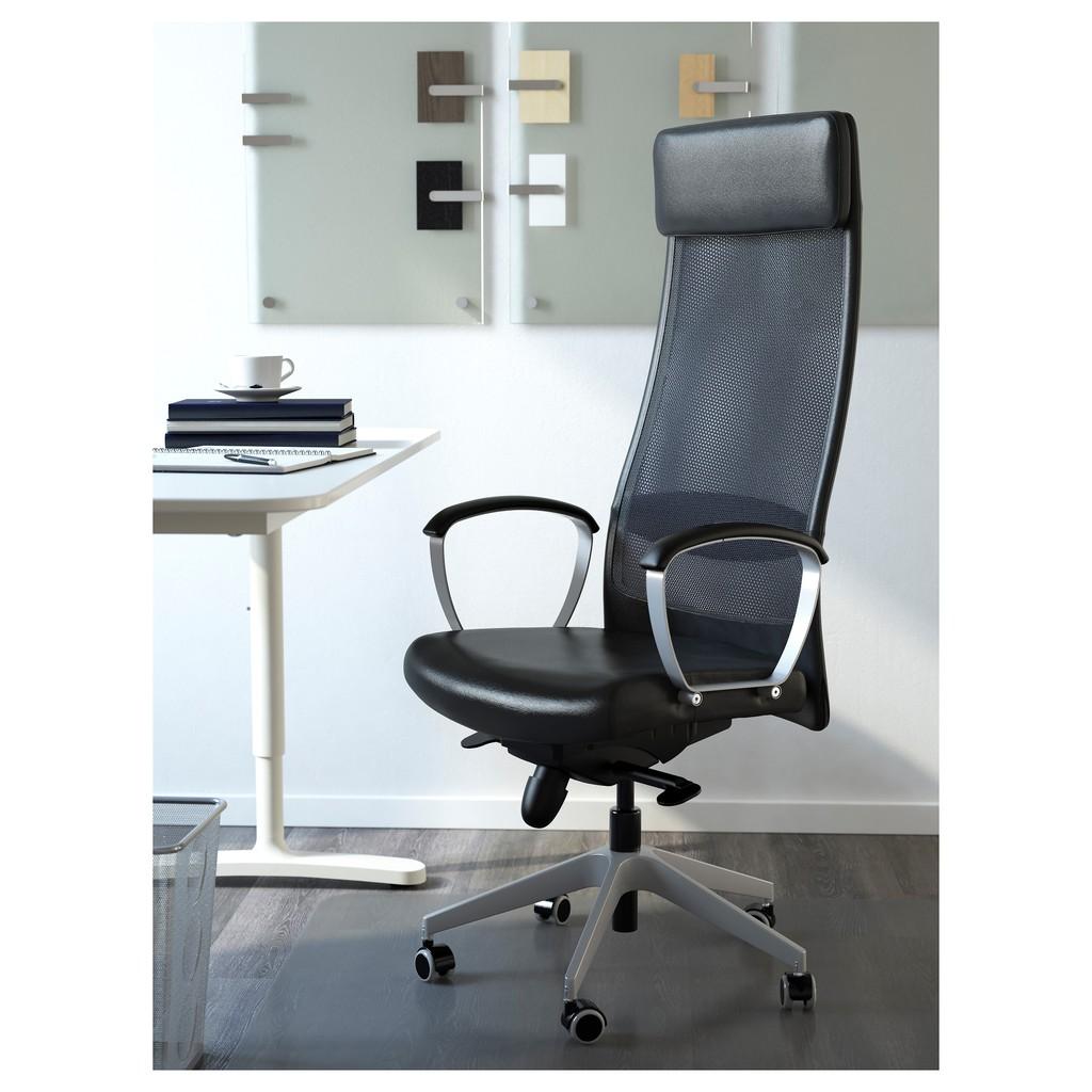 北歐工業LOFT風格經典IKEA宜家MARKUS辦公椅扶手椅旋轉椅電腦椅工作椅/黑/二手八成新/原$5390特$3800