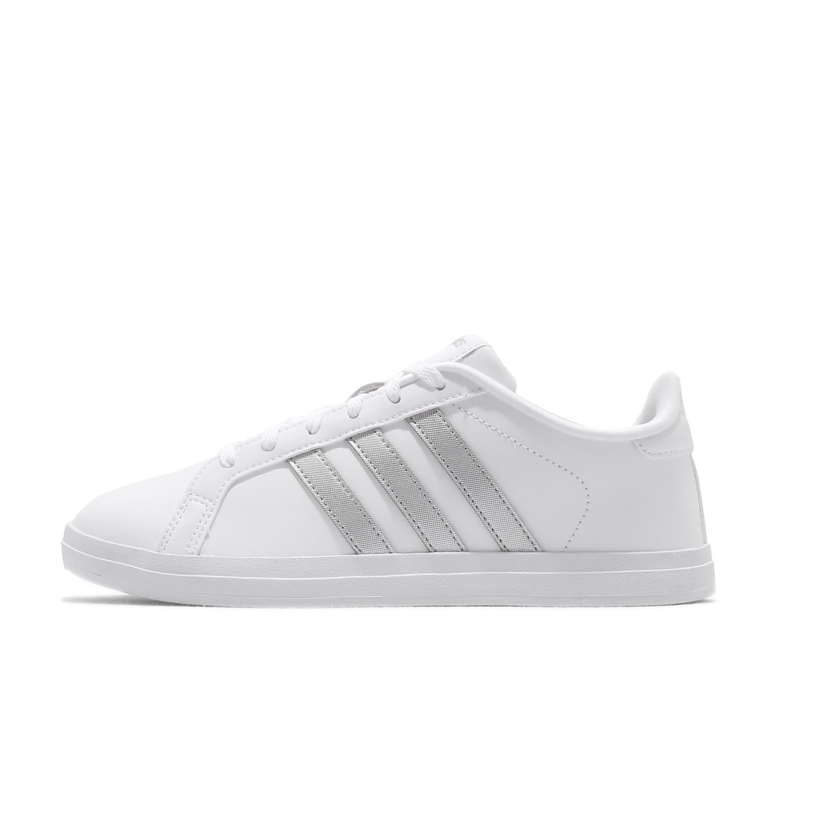 adidas 休閒鞋 Courtpoint 白 銀 愛迪達 小白鞋 女鞋 基本款 【ACS】 FW7376