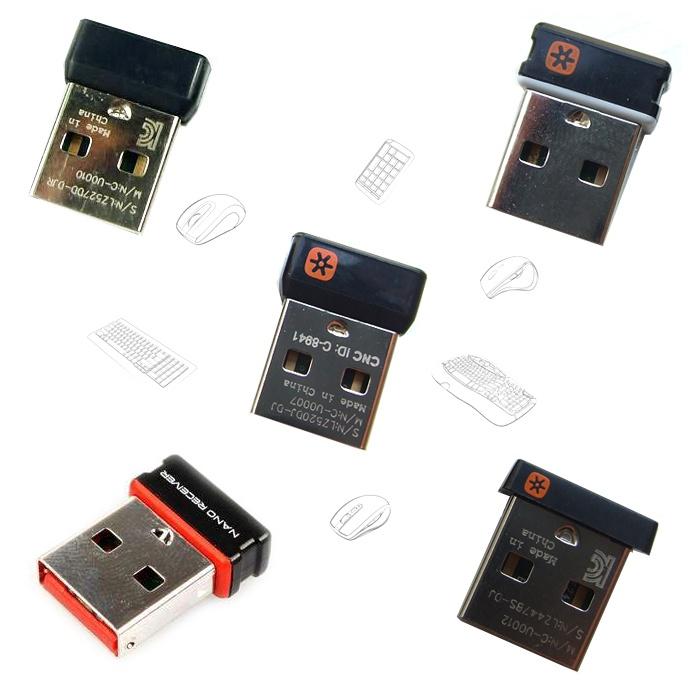 原廠 正品 免運羅技 無線鼠標鍵盤優聯接收器 M215 M325 M545 2S K270 鍵鼠套裝 hVU9