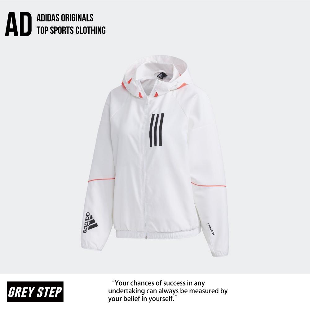 Adidas 愛迪達 WND 防風外套 運動外套 白色 女 GF0131 全新正品 快速出貨 統一發票