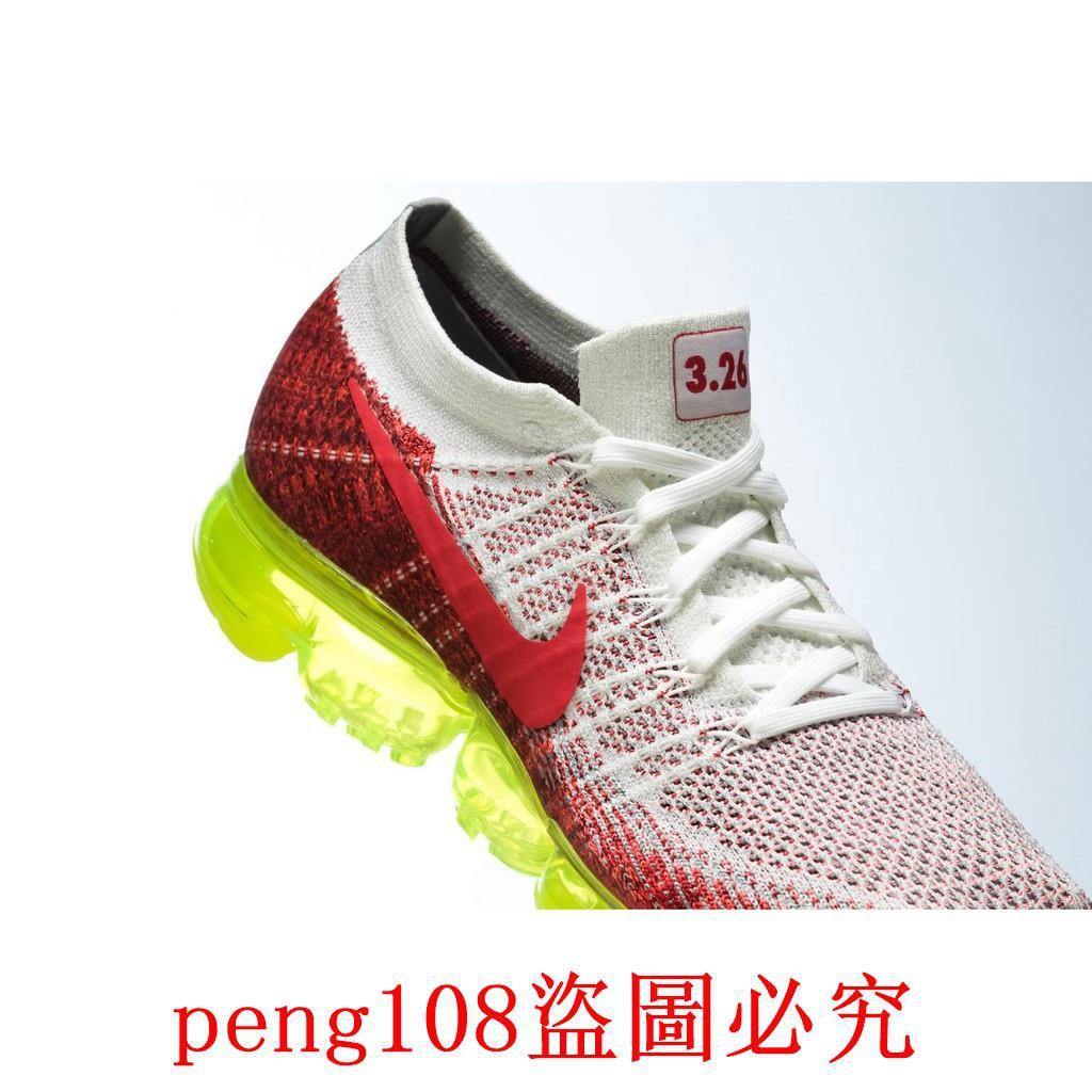 best website f309f 1c216 Nike Air VaporMax Max Day 3.26 白紅 色調 編織 氣墊 慢跑 黃 螢光底 男女