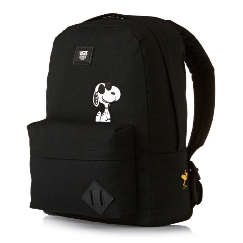 日本代購Vans X Peanuts Old Skool Ii Snoopy 史奴比聯名休閒後背包史努比帆布背包限量
