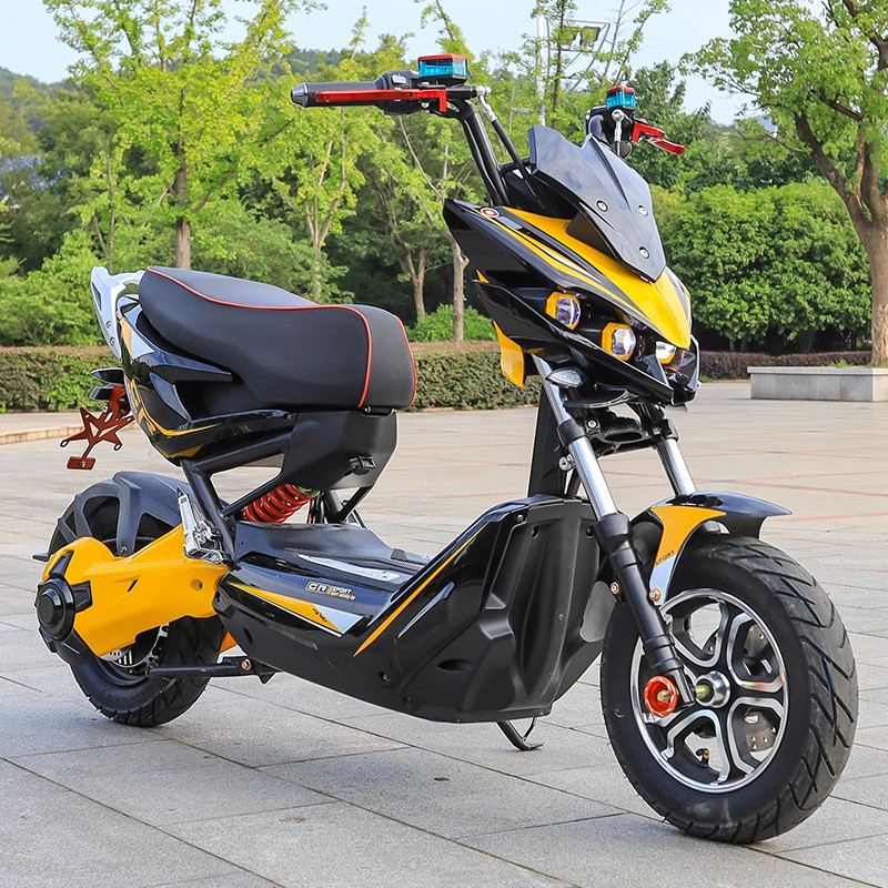 【台灣 免運】x戰警電瓶車 電摩72v踏板改裝極客電動摩托車 高速戰狼電動車網紅