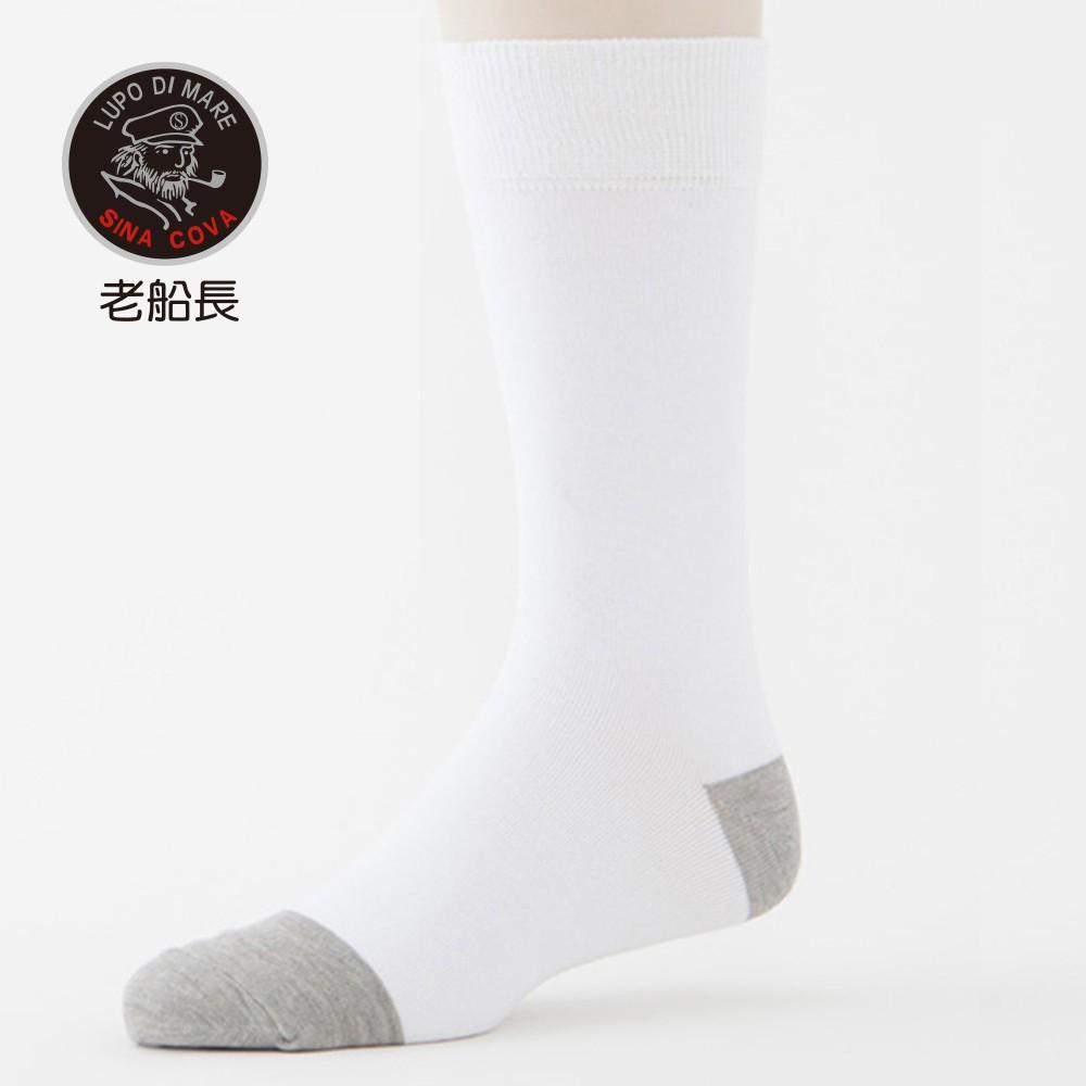 【ifeet】奈米竹炭細針薄款中筒襪(1107)-1雙入-白色